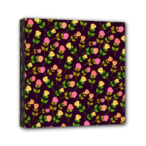 Flowers Roses Floral Flowery Mini Canvas 6  X 6