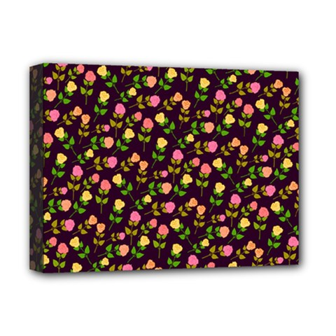 Flowers Roses Floral Flowery Deluxe Canvas 16  x 12