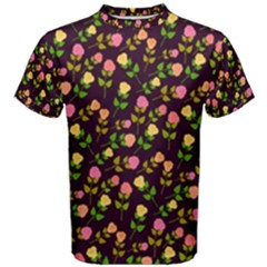 Flowers Roses Floral Flowery Men s Cotton Tee