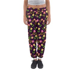 Flowers Roses Floral Flowery Women s Jogger Sweatpants