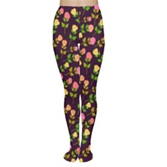 Flowers Roses Floral Flowery Women s Tights