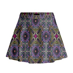 Vintage Abstract Unique Original Mini Flare Skirt