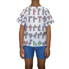 Hexominos Kids  Short Sleeve Swimwear
