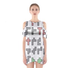 Hexominos Shoulder Cutout One Piece