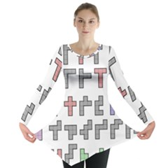 Hexominos Long Sleeve Tunic