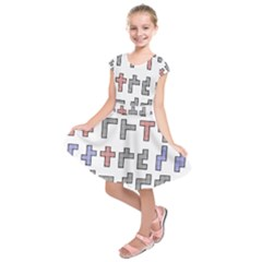 Hexominos Kids  Short Sleeve Dress