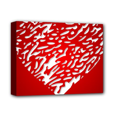 Heart Design Love Red Deluxe Canvas 14  x 11