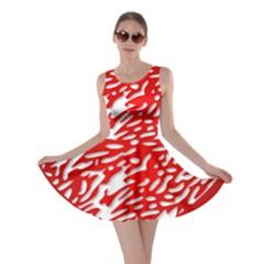 Heart Design Love Red Skater Dress