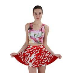 Heart Design Love Red Mini Skirt
