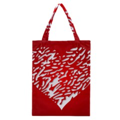 Heart Design Love Red Classic Tote Bag