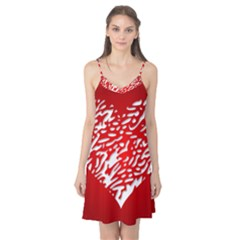 Heart Design Love Red Camis Nightgown