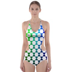 Half Circle Cut-Out One Piece Swimsuit