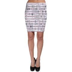 Bioplex Random Kimia Circle Grey Red Bodycon Skirt