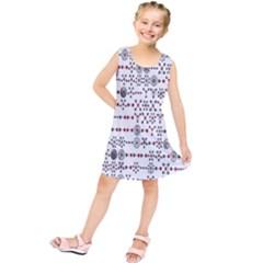 Bioplex Random Kimia Circle Grey Red Kids  Tunic Dress