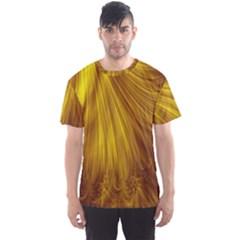 Flower Gold Hair Men s Sport Mesh Tee