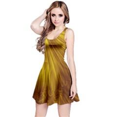 Flower Gold Hair Reversible Sleeveless Dress