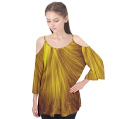 Flower Gold Hair Flutter Tees