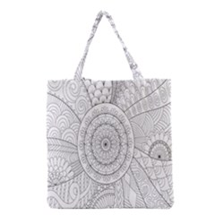 Flower Rose Flowering Sunflower Black Grocery Tote Bag