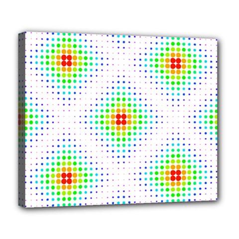 Color Square Deluxe Canvas 24  x 20