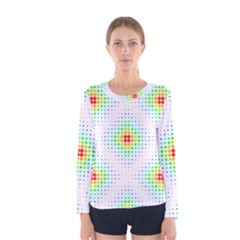 Color Square Women s Long Sleeve Tee