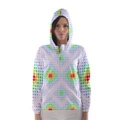 Color Square Hooded Wind Breaker (Women)