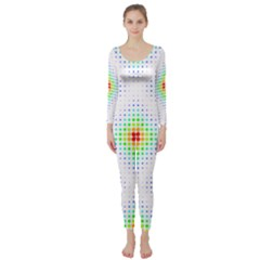 Color Square Long Sleeve Catsuit