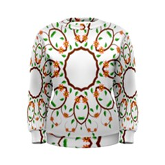 Frame Floral Tree Flower Leaf Star Circle Women s Sweatshirt