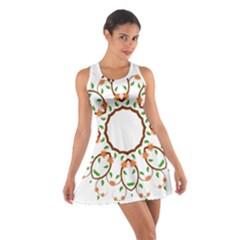 Frame Floral Tree Flower Leaf Star Circle Cotton Racerback Dress