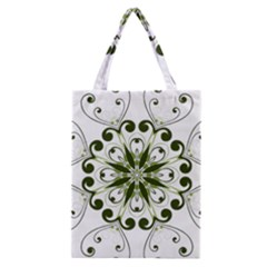 Frame Flourish Flower Green Star Classic Tote Bag