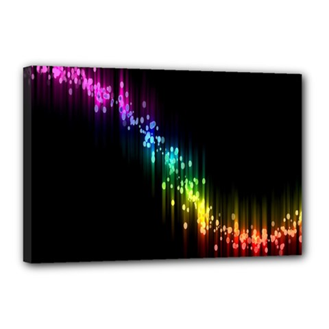 Illustrations Black Colorful Line Purple Yellow Pink Canvas 18  x 12