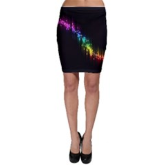 Illustrations Black Colorful Line Purple Yellow Pink Bodycon Skirt