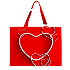 Heart Love Valentines Day Red Large Tote Bag