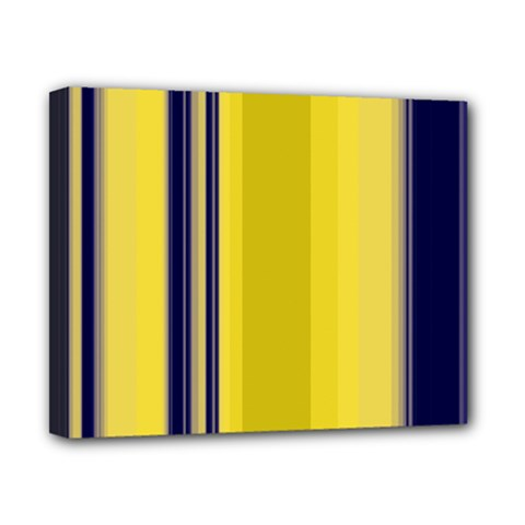 Yellow Blue Background Stripes Canvas 10  X 8