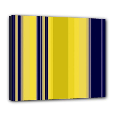Yellow Blue Background Stripes Deluxe Canvas 24  x 20