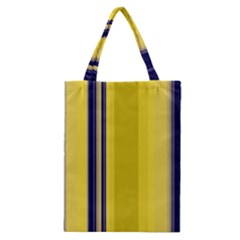 Yellow Blue Background Stripes Classic Tote Bag