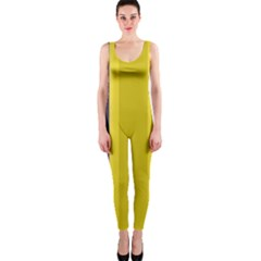 Yellow Blue Background Stripes Onepiece Catsuit