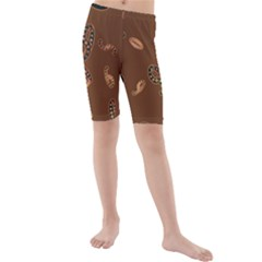 Brown Forms Kids  Mid Length Swim Shorts