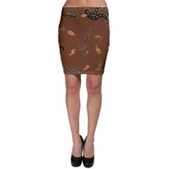 Brown Forms Bodycon Skirt