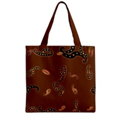 Brown Forms Grocery Tote Bag