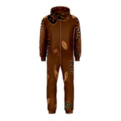 Brown Forms Hooded Jumpsuit (Kids)