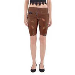 Brown Forms Yoga Cropped Leggings