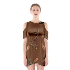 Brown Forms Shoulder Cutout One Piece
