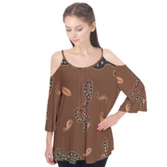 Brown Forms Flutter Tees