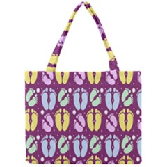 Baby Feet Patterned Backing Paper Pattern Mini Tote Bag