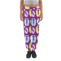Baby Feet Patterned Backing Paper Pattern Women s Jogger Sweatpants