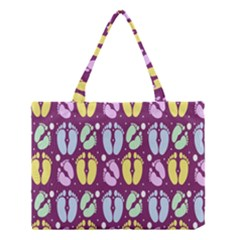 Baby Feet Patterned Backing Paper Pattern Medium Tote Bag