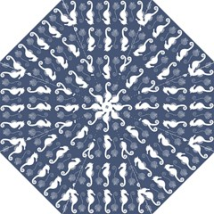 Seahorse And Shell Pattern Folding Umbrellas