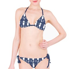 Seahorse And Shell Pattern Bikini Set