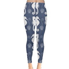 Seahorse And Shell Pattern Leggings