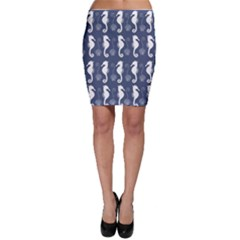 Seahorse And Shell Pattern Bodycon Skirt